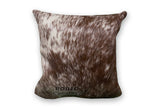 Maple Brown Cowhide Pillow Case - Rodeo Cowhide Rugs