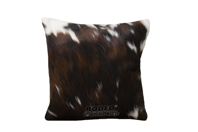 Tri-colored Cowhide Pillow Case - Rodeo Cowhide Rugs
