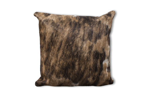 Pillow set cover made with animal skin brings elegance, classiness and perfect western accessory Brown Brindle
