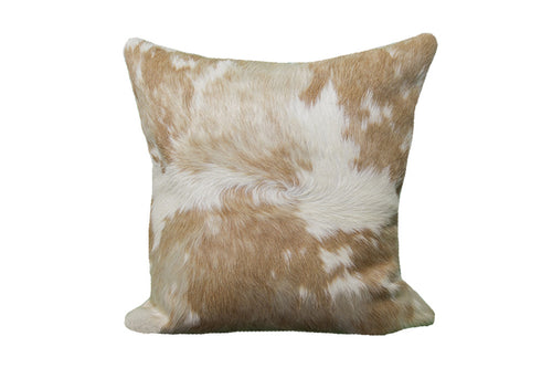 Brown and Whte Pillow cover made with animal skin brings elegance, classiness and perfect western accessory
