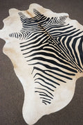 Brazilian Light Brown Based Zebra Rodeo Cowhide [Size: 7'7 x 6'9] - 2411 - Rodeo Cowhide Rugs