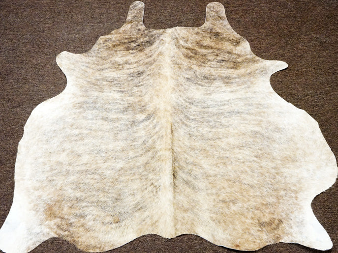 New Beige grey brindle brazilian cowskin Rodeo Cowhide rug 5.2x5.2ft- 2450 - Rodeo Cowhide Rugs