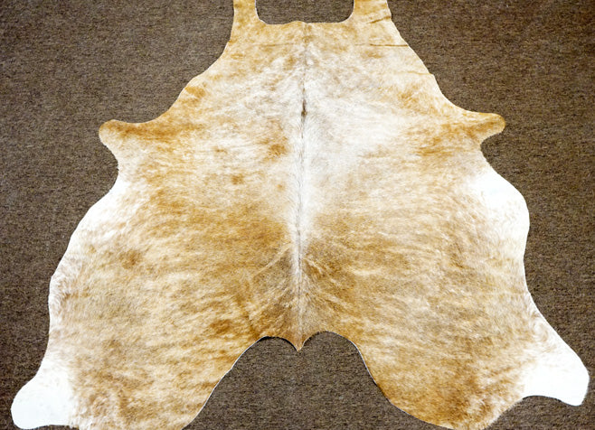 New Tan light brindle cowskin Rodeo Cowhide rug 6.1x5.8ft- 2454 - Rodeo Cowhide Rugs
