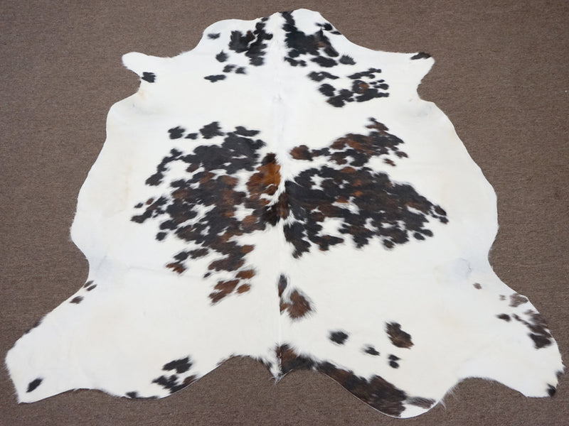 Spotted Tricolor Rodeo Cowhide rug 6.1x 6 ft --2774 - Rodeo Cowhide Rugs