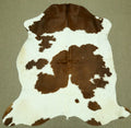 Brown and white Cowhide rug 6.8x 6 ft -2877 - Rodeo Cowhide Rugs