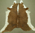 Extra Large Brown and white cow skin Cowhide rug