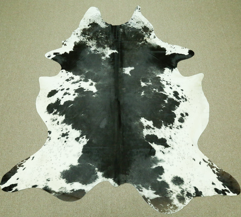 Extra Large Brazilian Salt and Pepper Cowhide rug