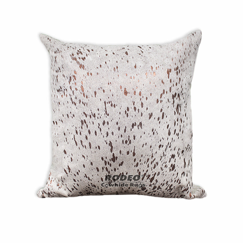 Bronze Acid Wash Cowhide Pillow Case - Rodeo Cowhide Rugs