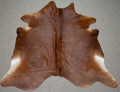 Large Brazilian Solid Brown Cowhide rug 6.11 x 6.3 ft - 3005 - Rodeo Cowhide Rugs