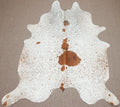 Large Brazilian Brown salt and pepper Cowhide rug 6.8x 5.8 ft -3059 - Rodeo Cowhide Rugs