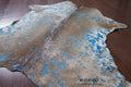 Blue Acid Wash Calfskin - Rodeo Cowhide Rugs