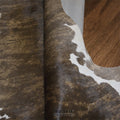Intense Brown Brindle Rodeo Hair on Calfskin 3.0x2.8 ft. - E166 - Rodeo Cowhide Rugs