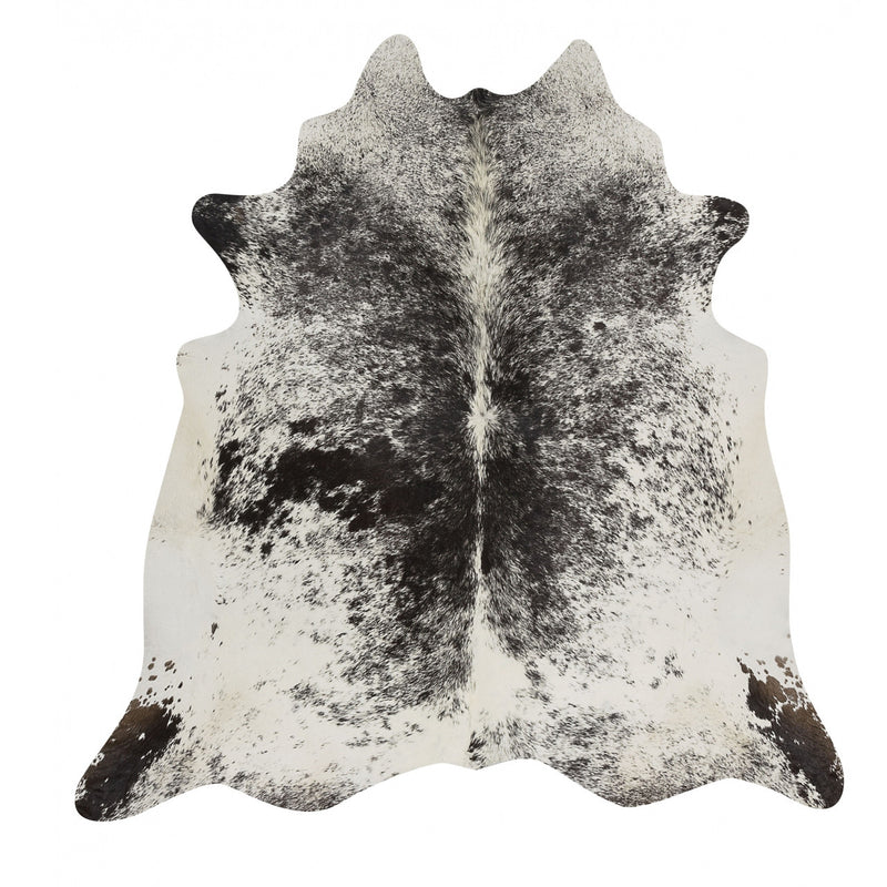 Black Salt and Pepper Cowhide Rug - Rodeo Cowhide Rugs