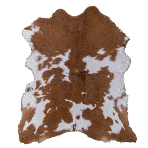 Cream Caramel Hairy Cowhide Calf Skin Rug - Rodeo Cowhide Rugs