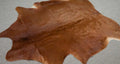 Large Brazilian Natural Solid Brown Cowhide rug 6.7 x 5.11 ft -2987 - Rodeo Cowhide Rugs