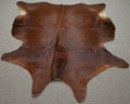 Large Brazilian Natural Solid Brown Cowhide rug 6.1 x 5.4 ft -2989 - Rodeo Cowhide Rugs