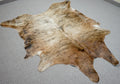 Large Brazilian Brown Brindle Cowhide rug 7.3x 5.3 ft -3109 - Rodeo Cowhide Rugs