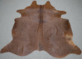 Extra Large Brazilian Solid Brown Cowhide rug 7.3x 6.6 ft -3145 - Rodeo Cowhide Rugs