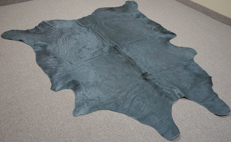 Extra Large Brazilian dyed Cowhide rug 7.8x 6.10 ft -3150 - Rodeo Cowhide Rugs