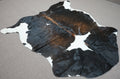 Large columbian dark chocolate with white Cowhide rug 6.11x 5.10 ft -3177 - Rodeo Cowhide Rugs