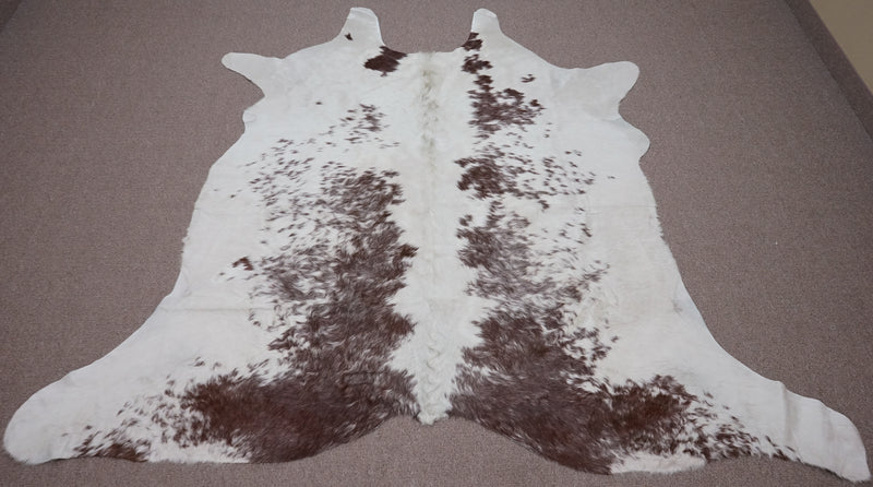 Extra Large Brown salt and pepper Cowhide rug 6.8 x 7.4ft -3209 - Rodeo Cowhide Rugs
