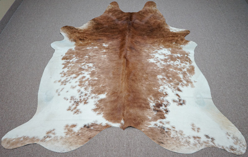 Extra Large Brazilian Exotic Cowhide rug 7.6 x 6.6ft -3457 - Rodeo Cowhide Rugs