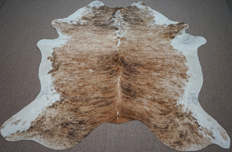 Extra Large Brazilian Brindle Cowhide rug 7.2 x 6.11ft -3460 - Rodeo Cowhide Rugs