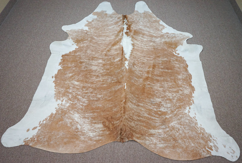 Extra Large Brazilian Exotic Cowhide rug 7.11 x 6.11ft -3475 - Rodeo Cowhide Rugs