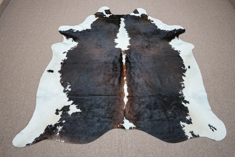 Extra Large Brazilian rustic style exotic Cowhide rug 6.8 X 6.1ft -3594