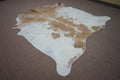 Extra Large Brazilian rustic style exotic Cowhide rug 6.9 X 6.5ft -3597