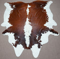 Extra Large Brazilian rustic exotic Cowhide rug 8.5 X 7.5ft -3702