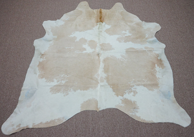 Large Brazilian rustic exotic Cowhide rug 6.1 X 6.2ft -3728