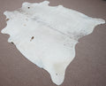 Large lite salt and pepper Cowhide rug 6.5 X 5.9ft -3767