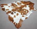 Extra Large speckle exotic Cowhide rug 6.10 X 6.8ft -3796