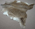 Extra Large rustic style exotic Cowhide rug 7 X 6.9ft -3821