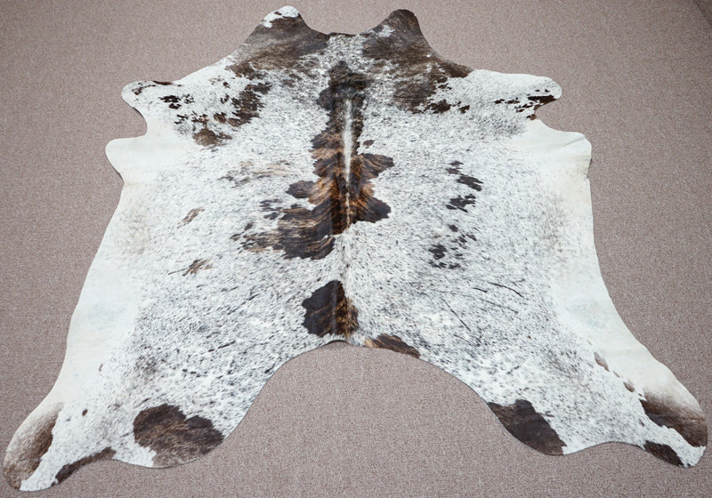 Extra Large speckle style exotic Cowhide rug 6.7 X 6.1ft -3906