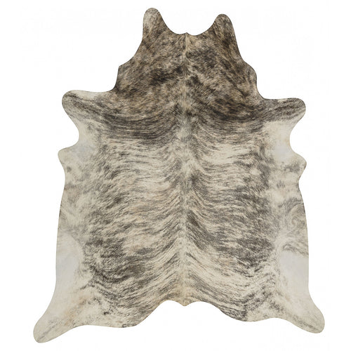 Grey Tan Brindle Cowhide Rug