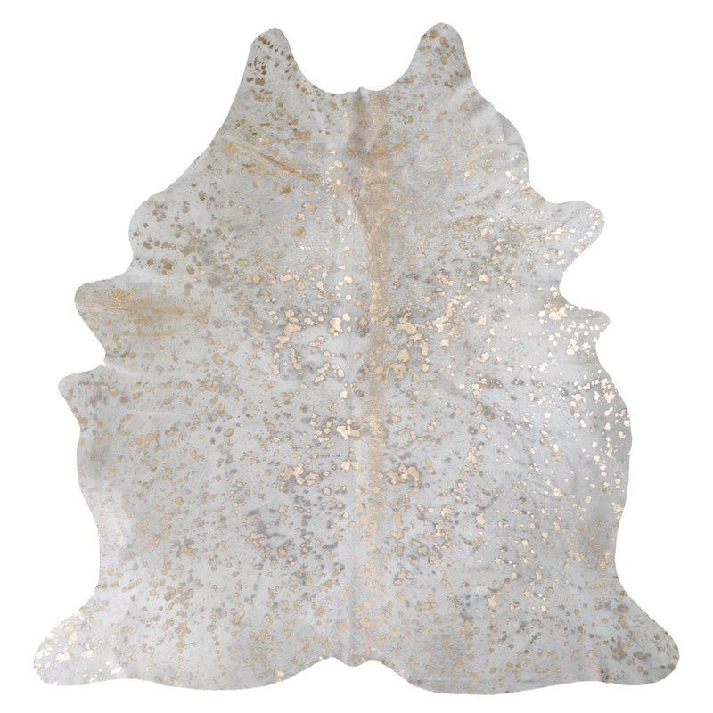 Gold Acid Wash Cowhide Rug - Rodeo Cowhide Rugs