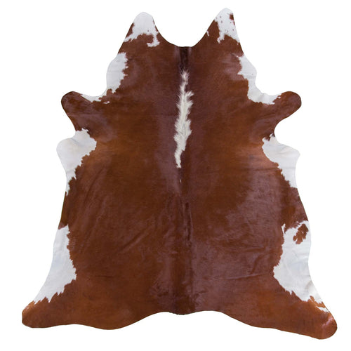 Hereford Brown Cowhide Rug - Rodeo Cowhide Rugs
