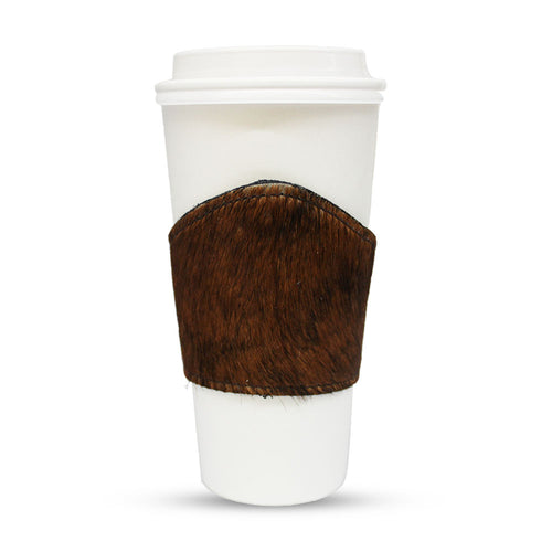 Cup Holder made out of animal skin for coffee or other kind of cup drinks