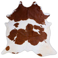 Brown & White Cowhide Rug - Rodeo Cowhide Rugs