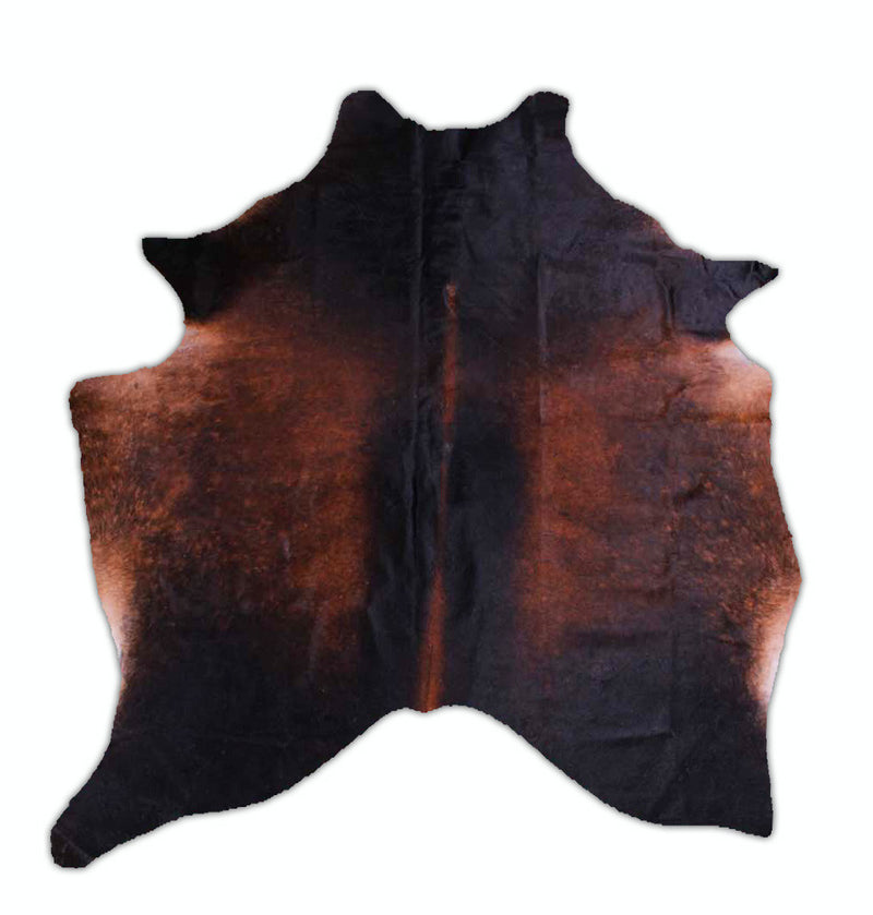 RODEO Dark Chocolate Cowhide Rug - 7.1x5.6ft - Rodeo Cowhide Rugs