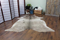 RODEO Exotic Grey Cowhide Rug - Size 7.7X6.4 FT - Rodeo Cowhide Rugs