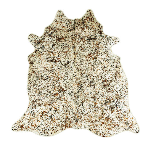 Printed Salt and Pepper Cowhide Rug - Rodeo Cowhide Rugs