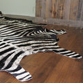 Rustic Look Zebra Rodeo Eco Friendly Cowhide Rug - Rodeo Cowhide Rugs