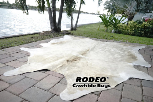 Brazilian Champagne Cowhide Rug - Rodeo Cowhide Rugs