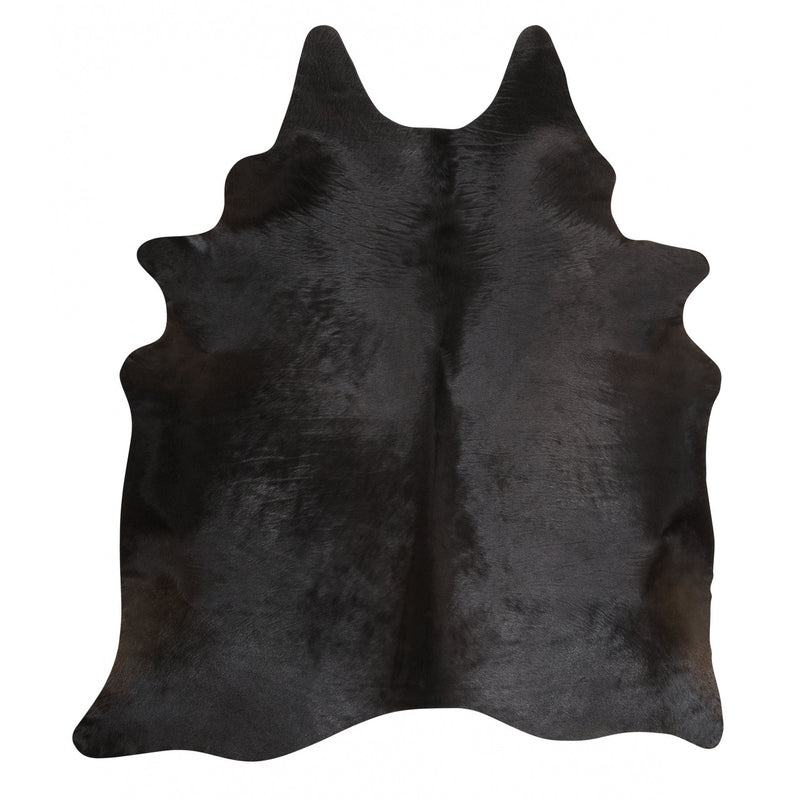 Natural Black Cowhide Rug - Rodeo Cowhide Rugs