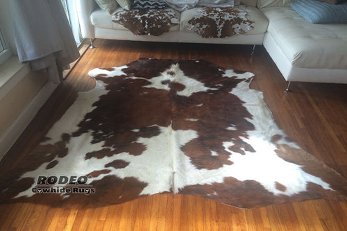 High Quality Tricolor Cowhide Rug - Rodeo Cowhide Rugs