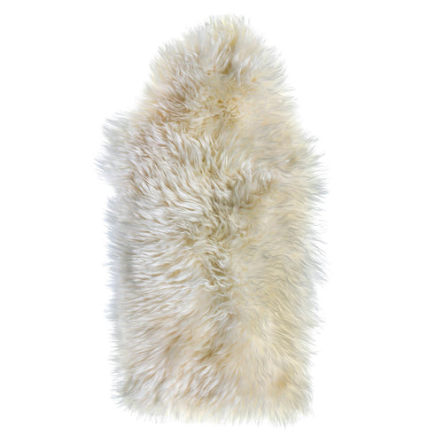 Natural Ivory Sheepskin Rug 2x3 ft
