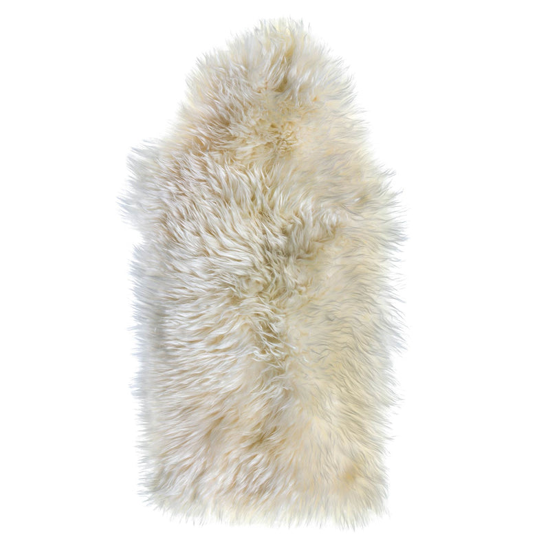 Natural Ivory Sheepskin Rug 2x3 ft - Rodeo Cowhide Rugs